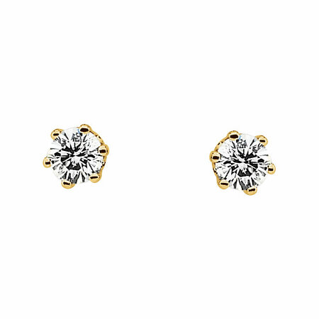 1/5 Carat Total Weight Diamond Friction Post Stud Earrings