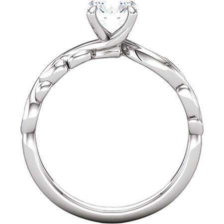 10K White 1 CT Diamond Engagement Ring