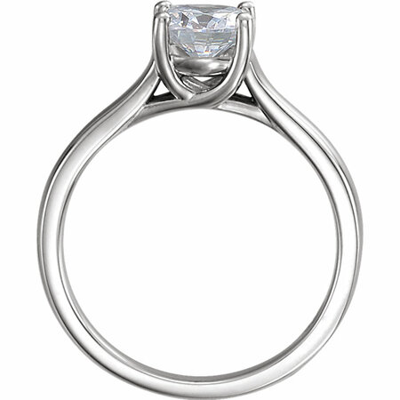 10K White 1 CTW Diamond Solitaire Engagement Ring