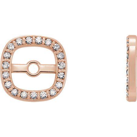 Perfect Jewelry Gift 14 Karat Rose Gold 0.10 Carat Total Weight Diamond Earring Jackets