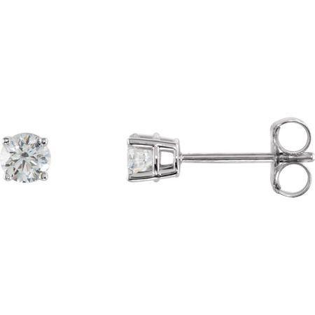 Beautiful 14 Karat Rose Gold 0.33 Carat Total Weight Diamond Earrings
