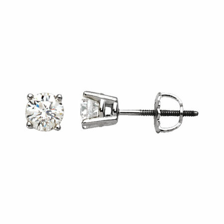 Beautiful 14 Karat White Gold 0.20 Carat Total Weight Diamond Earrings