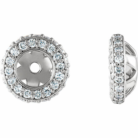Great Gift in 14 Karat White Gold 0.20 Carat Total Weight Diamond Earring Jackets