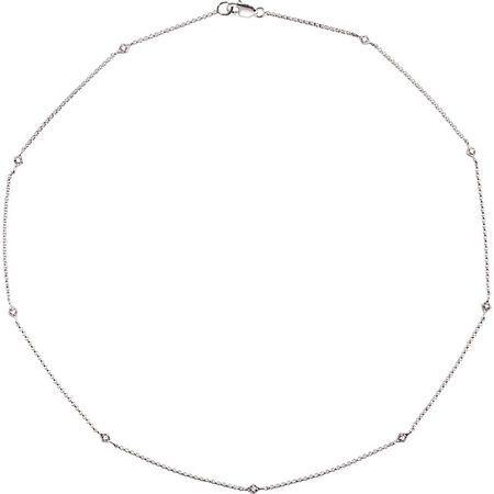 Wonderful 14 Karat White Gold 0.17 Carat Total Weight Diamond 18