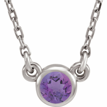 Wonderful 14 Karat White Gold Amethyst 16