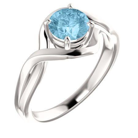 Great Deal in 14 Karat White Gold Aquamarine Ring