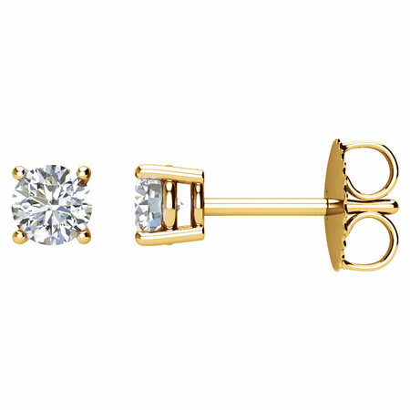 Perfect Gift Idea in 14 Karat Yellow Gold 0.50 Carat Total Weight Diamond Earrings