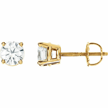Beautiful 14 Karat Yellow Gold 0.25 Carat Total Weight Diamond Earrings
