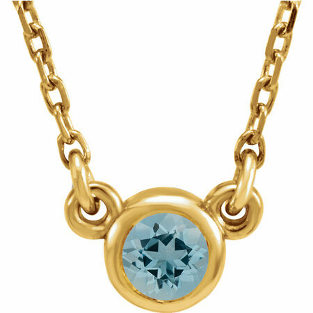 Great Buy in 14 Karat Yellow Gold Aquamarine Bezel 16