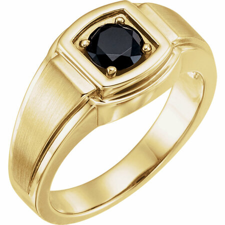 Perfect Gift Idea in 14 Karat Yellow Gold Onyx Men's Ring