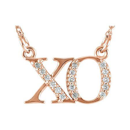 Gorgeous 14 Karat Rose Gold .08 Carat Total Weight Diamond