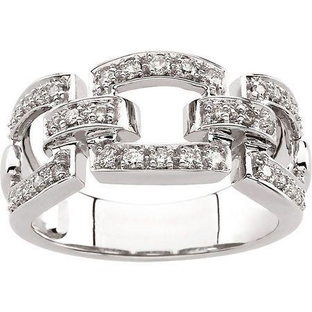 14 KT White Gold 1/3 Carat Total Weight Diamond Fashion Ring