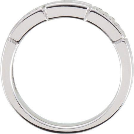 14 KT White Gold 1/8 Carat Total Weight Diamond Ring