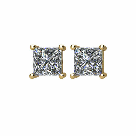 14 KT Yellow Gold 1/2 Carat Total Weight Diamond Earrings