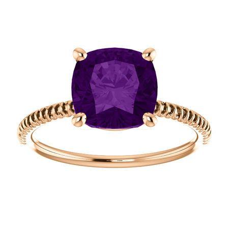 14KT Rose Gold Amethyst Ring