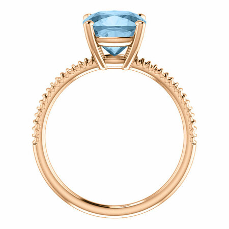 14KT Rose Gold Sky Blue Topaz Ring