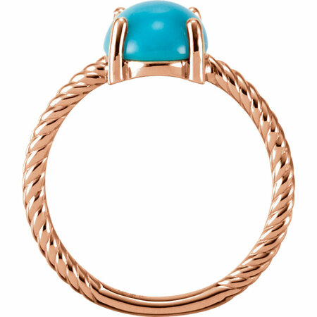 14KT Rose Gold Turquoise Cabochon Ring