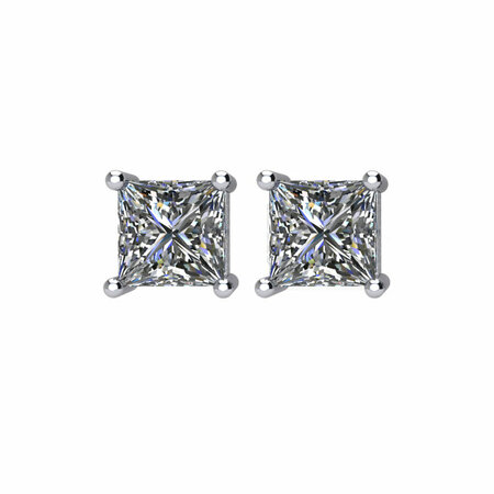 14KT White Gold 1 1/2 CTW Diamond Earrings