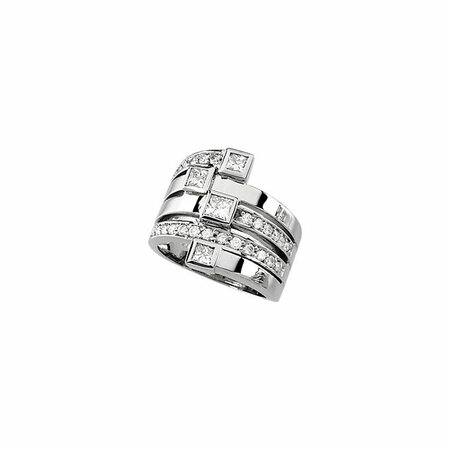 14KT White Gold 1 1/3 CTW Diamond Right Hand Ring