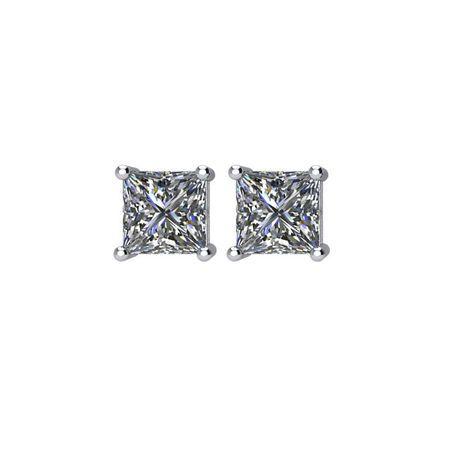 14KT White Gold 1 CTW Diamond Earrings