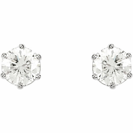 14KT White Gold 2 CTW Diamond Threaded Post Stud Earrings