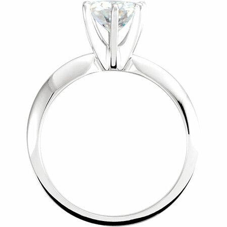 14KT White Gold 7mm Round Forever Classic Moissanite Solitaire Engagement Ring