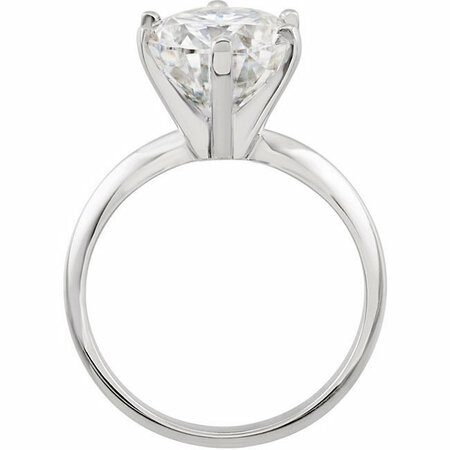 14KT White Gold 7x5mm Oval Forever Classic Moissanite Solitaire Engagement Ring