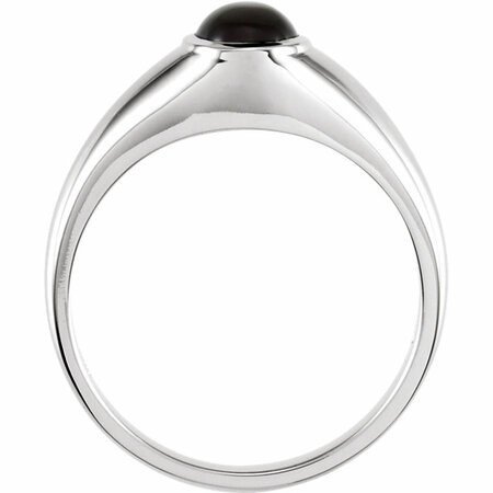 14KT White Gold Onyx Ring
