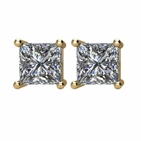 14KT Yellow Gold 1 1/2 CTW Diamond Earrings