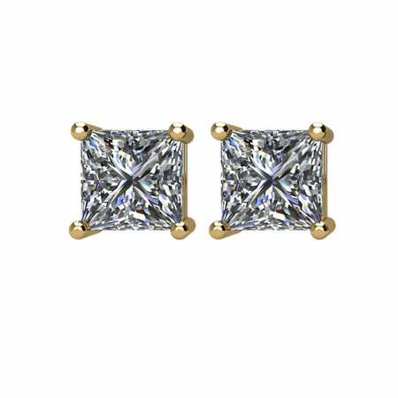 14KT Yellow Gold 1 CTW Diamond Earrings