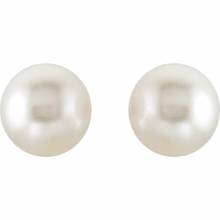 14KT Yellow Gold 15mm South Sea Cultured Pearl Earrings