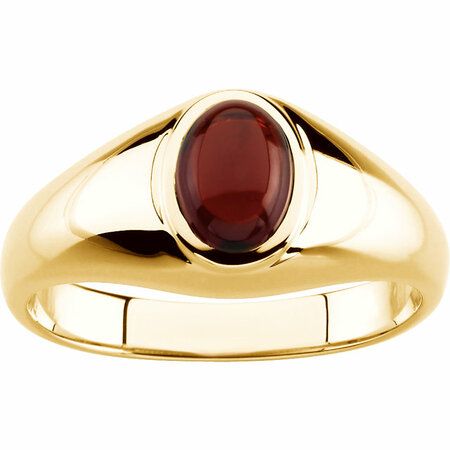 14KT Yellow Gold Mozambigue Garnet Ring