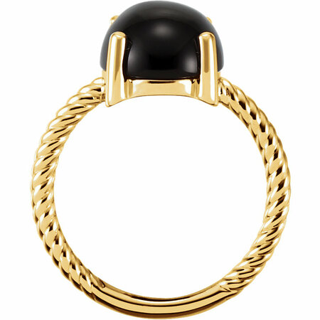 14KT Yellow Gold Onyx Cabochon Ring