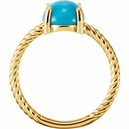 14KT Yellow Gold Turquoise Cabochon Ring