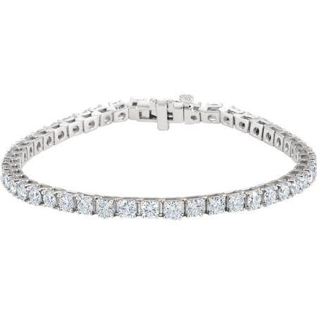 Perfect Gift Idea in 18 Karat Yellow Gold 7 Carat Total Weight Diamond Line 7.25