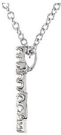 Ahoy Matey! - Sparkling .13ct Diamond Studded Anchor Pendant in Platinum - FREE Chain