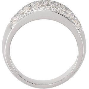 Amazing 1.00 Carat Total Weight Micro Pav? 1.70 mm Diamond Ring set in 14 karat White or Yellow Gold