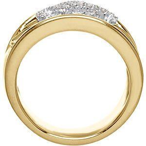Captivating 0.75 Carat Total Weight Two Tone 1.20 mm Diamond Ring set in 14 karat White & Yellow Gold - SOLD