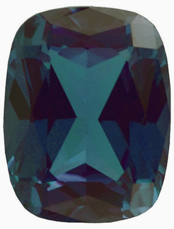 Chatham  Alexandrite Antique Cushion Cut in Grade GEM