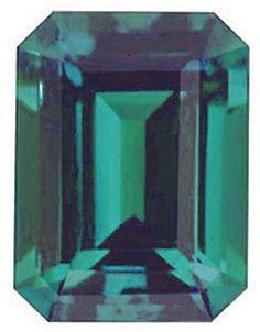 Chatham  Alexandrite Emerald Cut in Grade GEM