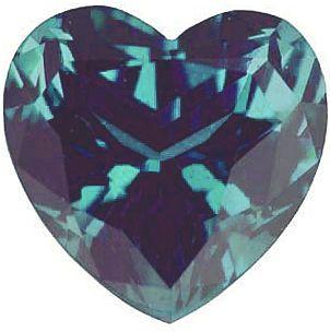 Chatham  Alexandrite Heart Cut in Grade GEM