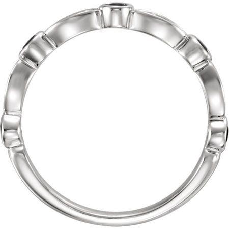 Elegant Blue Sapphire & Diamond 14kt Gold Stackable Band Ring - 5 Round Sapphire Gems