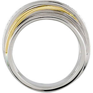 Fabulous 0.50 Carat Total Weight Two Tone 1.20 Round Shaped Diamond Ring expertly set in 14 karat White/Yellow Gold