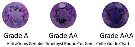 Genuine Round Cut Amethyst in Grade AAA