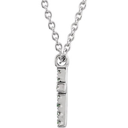 Glittering Cross Style.07ct Diamond Necklace in 14k White Gold - FREE Chain Included - SOLD