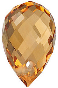 Golden Citrine Briolette Cut Gems in Grade AAA