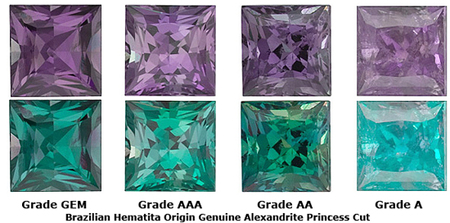 Grade AA - Princess Genuine Alexandrite 2.25 mm to 3.25 mm