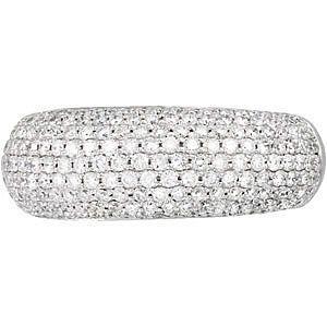 HUGE Chunky 1.5 Carat Pave Diamond Band with 211 Amazing Sparkling Diamonds