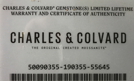 Charles & Colvard Forever One Colorless Moissanite Gemstone in Oval Shape Grade AAA, 9.00 x 7.00 mm
