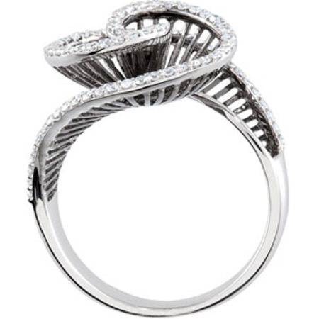 Mesmerizing .5ct Swirling Spiral Staircase Diamond Ring with Black Rhodium Plating